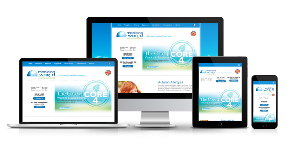 Responsive website for Medicine World