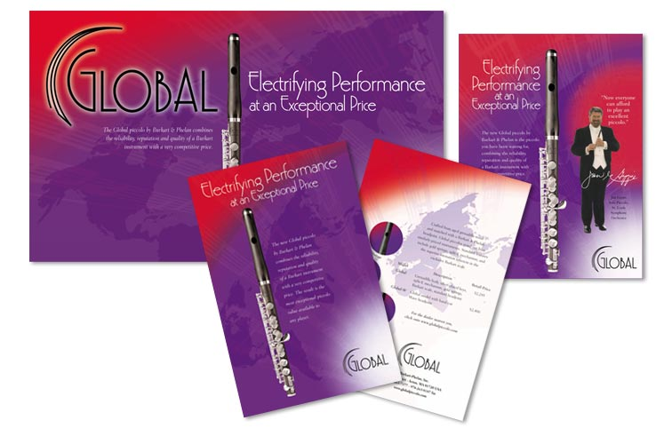 Banner, sales sheet and ad for Glaobal