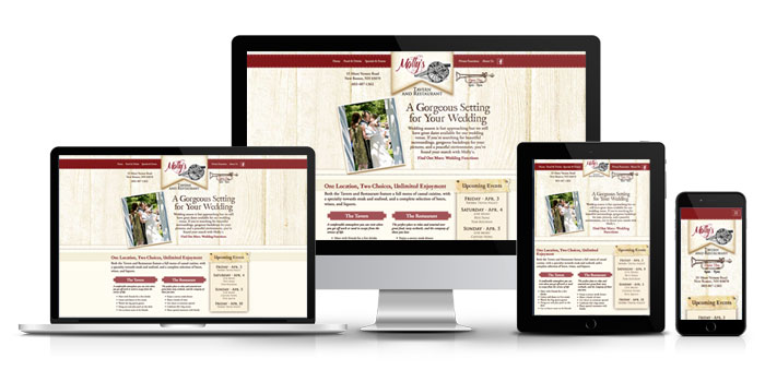 Responsive website for Molly's Tavern and Restaurany